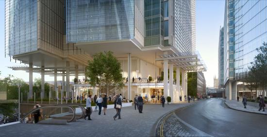 Fielden House street level. (Courtesy Renzo Piano Building Workshop)