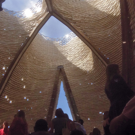 Hy Fi by The Living, the 2014 MoMA PS1 Young Architects Program winner (courtesy MoMA PS1)