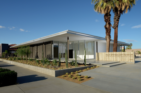 The renovated building. (Courtesy Palm Springs Art Musuem, Architecture and Design Center, photo by Daniel Chavkin)