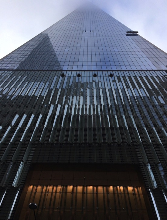 Secure window washers working at 1 World Trade Center on the north side—not where the accident happened. (Courtesy AN)