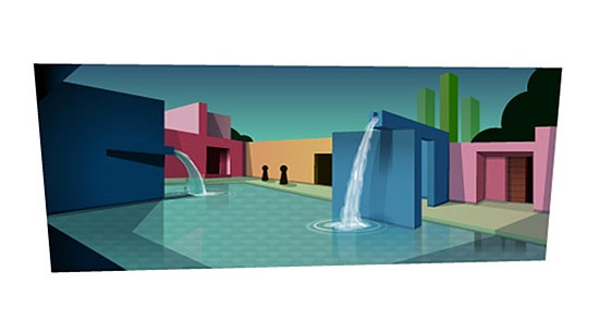 If Google Doodle's are any clue, Sergi Brin's new house might look something like this. (Courtesy Google)