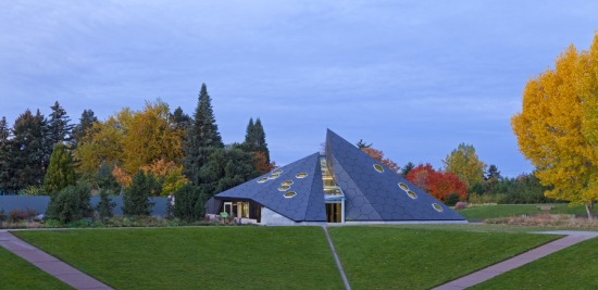 The Science Pyramid was designed to present unique profiles depending on the angle of approach. (Frank Ooms)