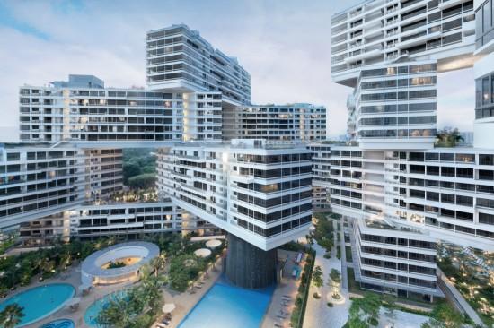The Interlace in Singapore by Büro Ole Scheeren. (© Iwan Baan)