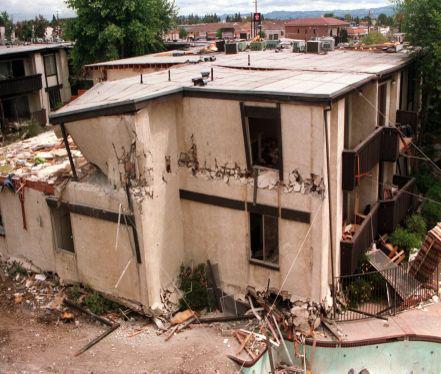 Northridge Meadows Apartment after the 1994 Northridge earthquake (City of Los Angeles)
