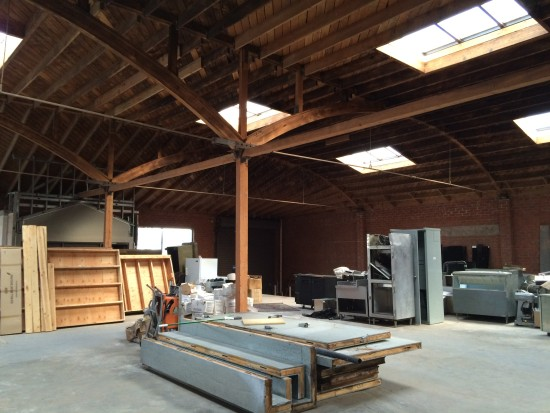 Interior of A+D space, prior to buildout (John Dale)