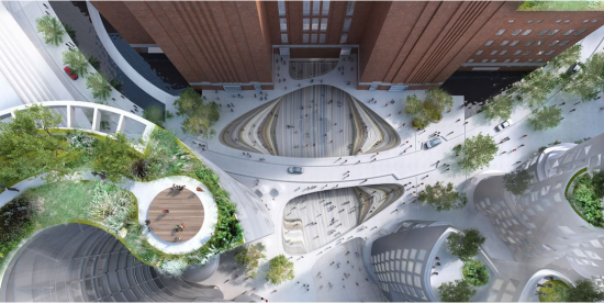 Malaysia Square. (Courtesy Bjarke Ingels Group via Battersea Power Station)