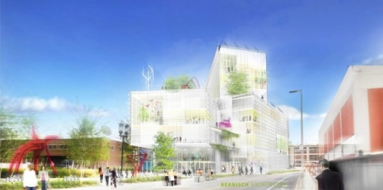 Rendering of EpiCenter in Boston (Courtesy Behnisch-Architekten)