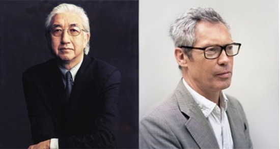 Yoshio Taniguchi (Left: courtesy Timothy Greenfield-Sanders) and Jasper Morrison (Right: courtesy Kento Mori).