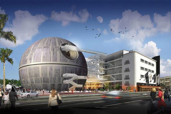 Renzo Piano's Academy of Motion Picture Arts and Sciences Museum was awarded a Darth Vader Award. (Montage by AN)