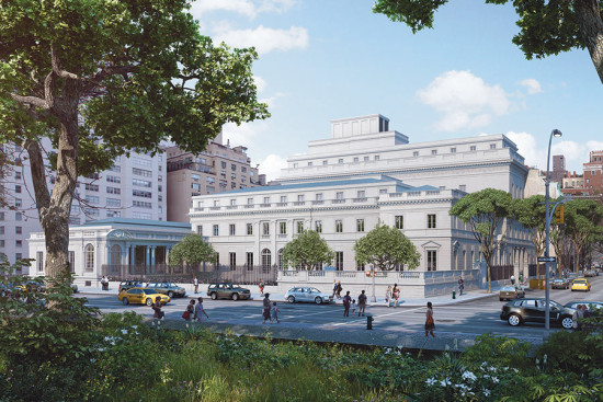 THE FRICK'S EXPANSION WOULD EXTEND THE SIX-STORY LIBRARY BUILDING THROUGH TO 70TH STREET AND FILL IN AN EXISTING GARDEN. (COURTESY DAVIS BRODY BOND)