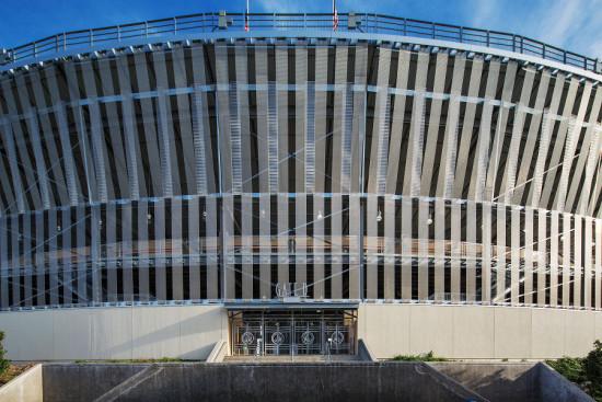 Light Veil, Cotton Bowl facade, Dallas, TX. (Cambridge Architectural)