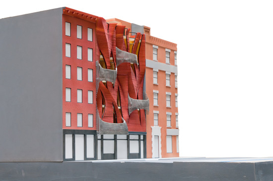Model of 187 Franklin. (Courtesy SYSTEMarchitects)