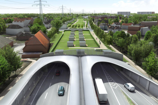 The capped highway. (Courtesy hochtief solutions)