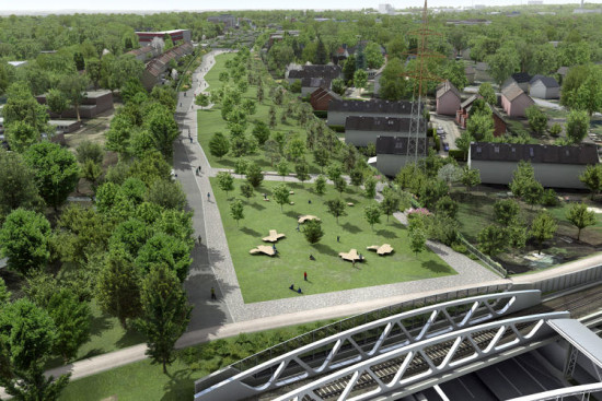 The project will create 60 acres of new green space. (Courtesy hochtief solutions)