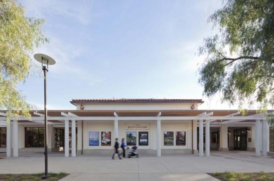 Entrance to the Huntington's new Visitors Center (Tim Street-Porter)