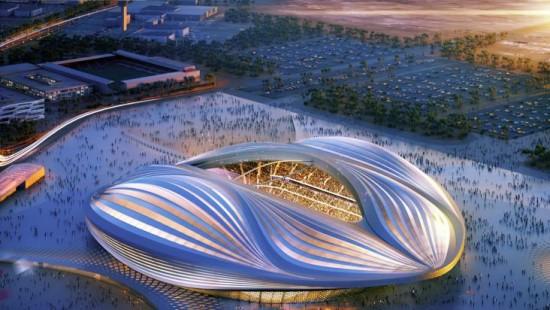 Hadid's Al Wakrah Stadium. (Courtesy Zaha Hadid Architects)