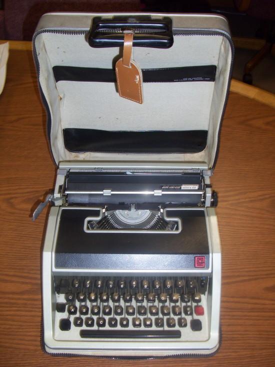 Bradbury's Olivetti Underwood portable typewriter (Center for Ray Bradbury Studies)