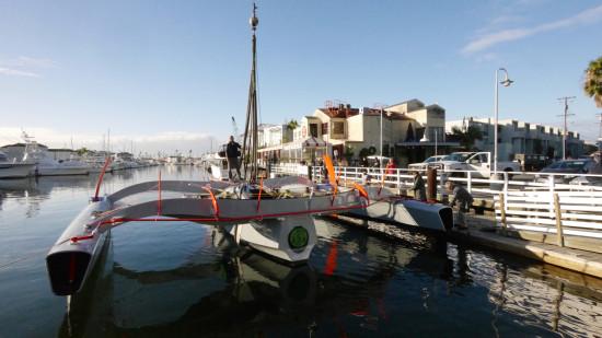 Gregg Lynn's vessel docked in Marina Del Rey (GLForm)