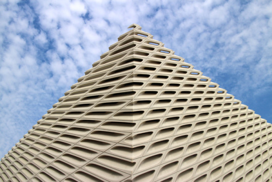 The Broad's southeast corner (Sam Lubell/ AN)