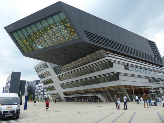Hadid's Library and Learning Centre at the Vienna University of Economics and Business. (Flickr / pov_steve)
