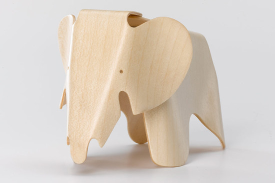 A plywood toy elephant by Charles and Ray Eames. (Courtesy Vitra)