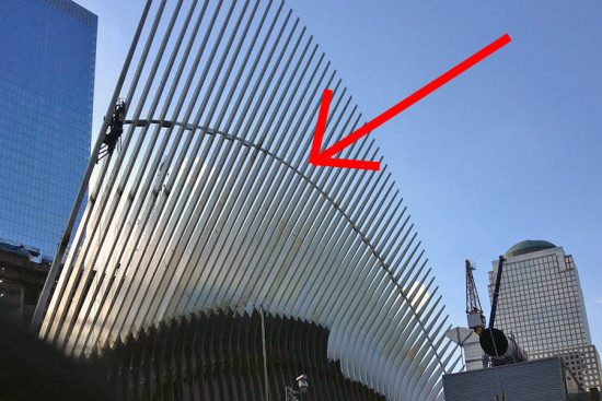 Santiago Calatrava's World Trade Center Transit Hub. (William Menking / AN)