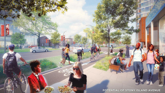 A rendering of South Stony Island Avenue, part of the University of Chicago's proposal for the Barack Obama Presidential Library. (Skidmore, Owings & Merrill, The University of Chicago)
