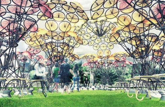 Organic Growth Pavilion. (Courtesy Izaskun Chinchilla Architect)