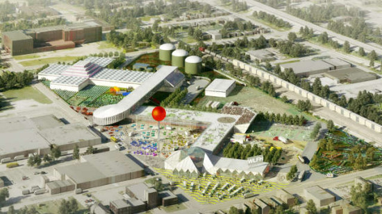 Preliminary renderings for West Louisville's planned Food Hub. (OMA, GBBN)