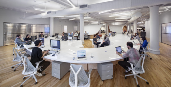 The Superdesk can accommodate up to 175 Barbarian Group employees. (Michael Moran)