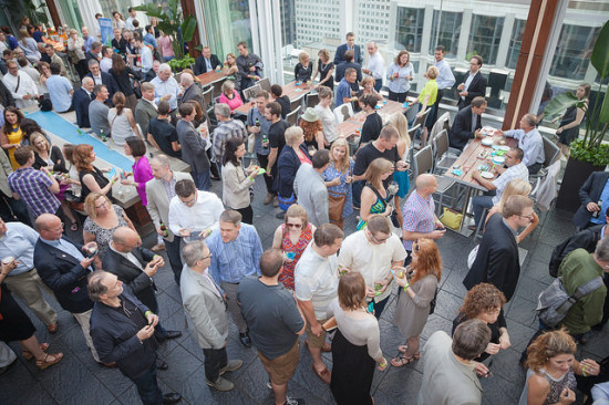 Participants mix and mingle at networking breaks between symposium and workshop events.