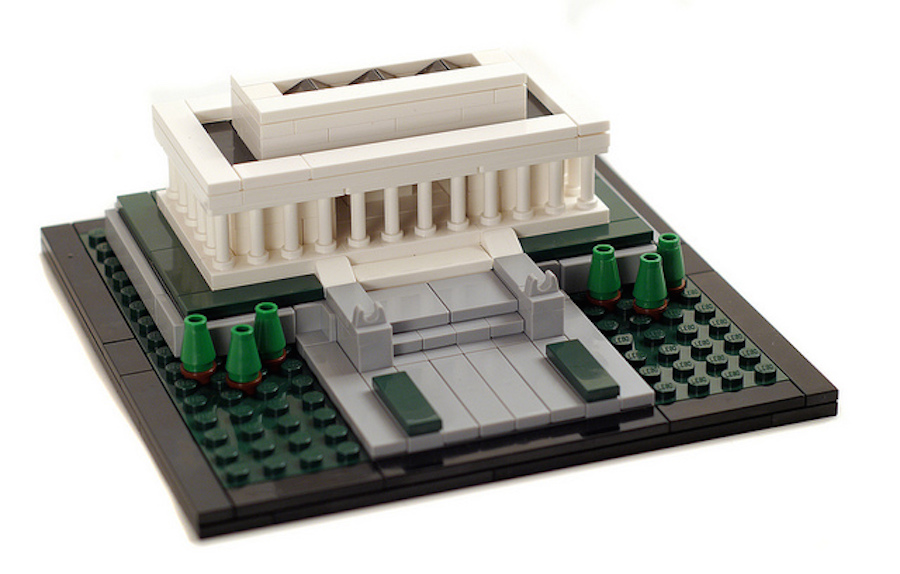 lego architecture honors the great emancipator with a miniature of