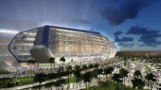 Raiders/ Chargers stadium in Carson (Manica Architecture)