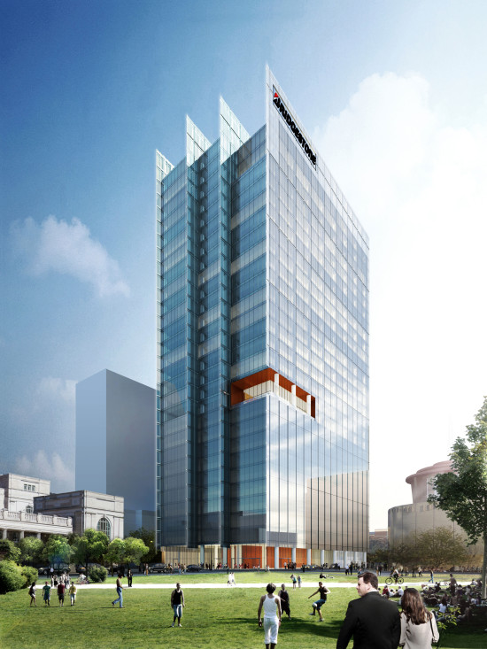 Bridgestone Americas' new headquarters in downtown Nashville is expected to open in 2017. (Perkins + Will)
