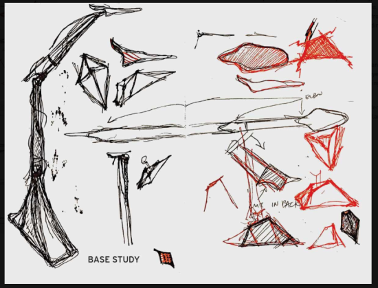 "Sketches from ""The Collapsible Chair,"" by Yuan Yao (MADWORKSHOP)"