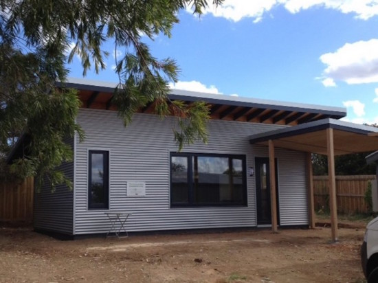 The exterior is clad in steel for further insulation (Courtesy CARBONlite)
