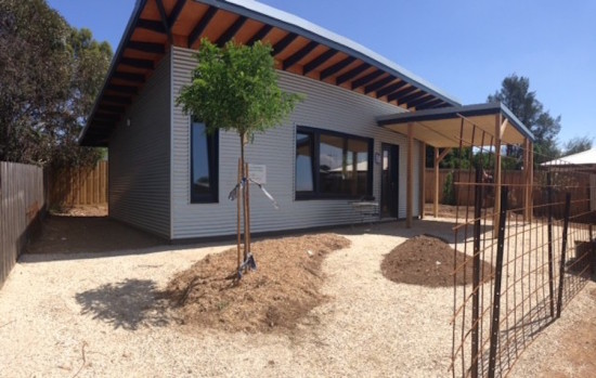 Front view of the Passive House in Castlemaine, Australia (Courtesy CARBONlite)