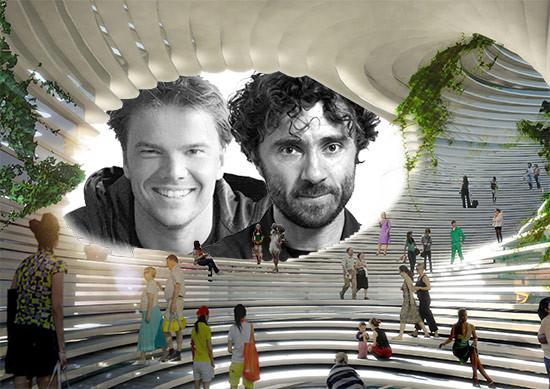 Bjarke Ingels, left, and Thomas Heatherwick, right.