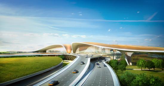 Hadid's Beijing New Airport Terminal Building. (Courtesy Zaha Hadid Architects)