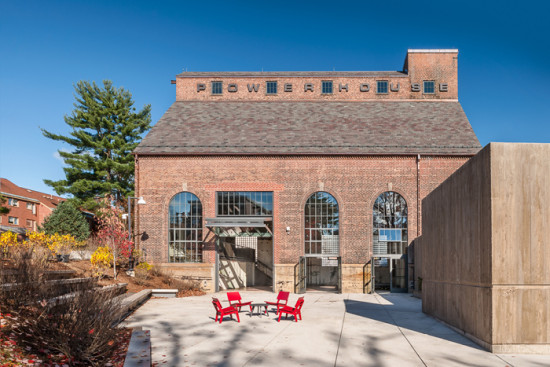 Bruner/Cott renovated a 1925 McKim, Mead & White steam plant to create a new student event space for Amherst College. (David Lamb)