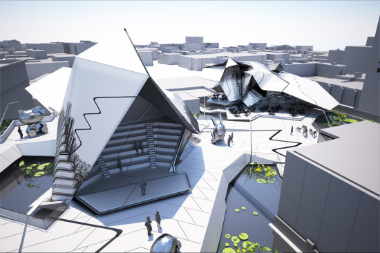 OBDM Rooftop Structures (Tom Wiscombe)