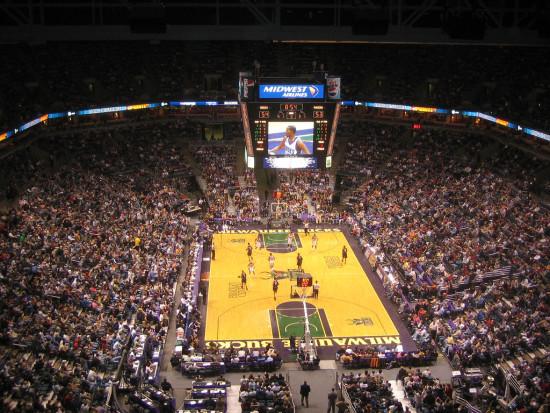 Inside the Milwaukee Bucks' current arena. (Jeramey Jannene via Flickr)