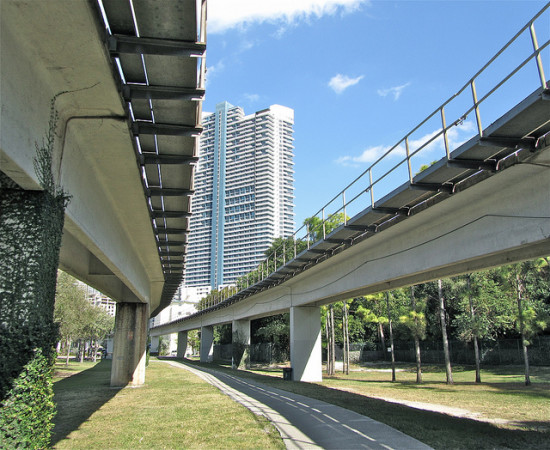 Beneath the Metrorail in Miami. (Flickr / Melissa Venable)