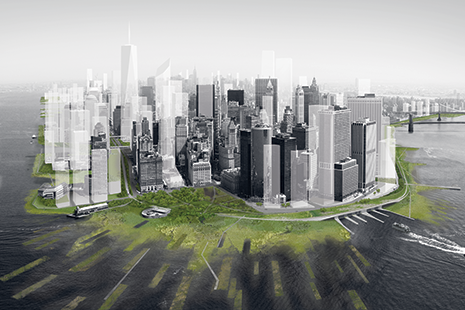 A New Urban Ground-View of Lower Manhattan. (Architecture Research Office and dlandstudio)
