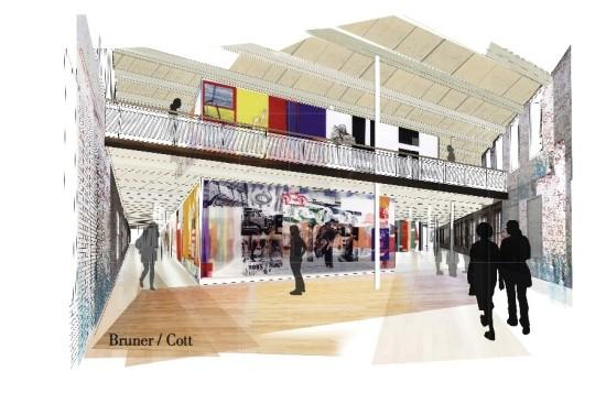 Interior of MASS MoCA's Building 6. (Courtesy Bruner/Cott)