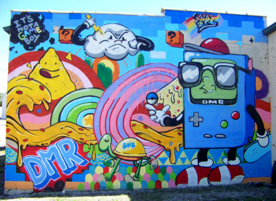 Detroit graffiti art by Four Eyes, via 4731 Gallery and Studios.