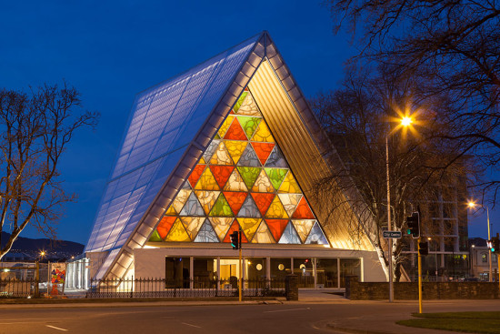 Cardboard Cathedral, Christchurch, New Zealand, 2013. (Bridgit Anderson)