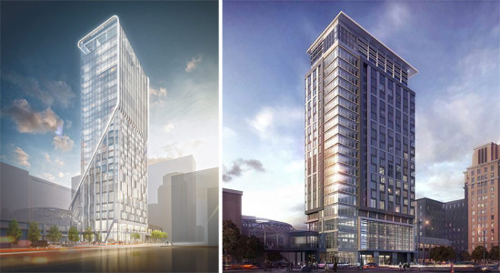 Before and after of the Alessandra Hotel design. (Courtesy Gensler)
