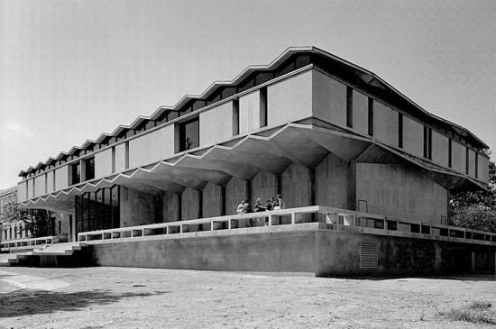 Maki's Steinberg Hall in 1960. (Courtesy Kemper Art Museum)