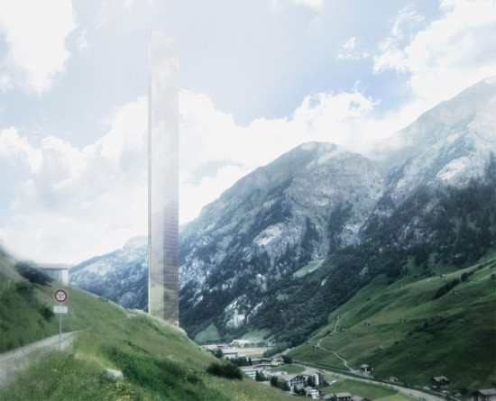 Morphosis recently unveiled renderings of its 7132 Tower luxury hotel for Vals, Switzerland. (Courtesy Morphosis)